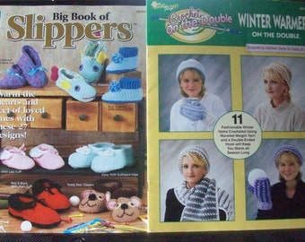 Crochet,Patterns,Leaflets,Supplies,Crafts,Slippers,Crochet On The Double,Hats,Gloves,Scarves,Needlecraft Shop, House of White Birches