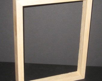 Shadow box, deep rabbet unfinished 9x12 frame for canvases