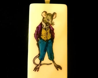 Rat in Suit Pendant