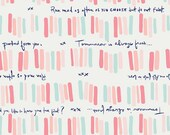 Paperie fabric, Text fabric, Word fabric, Gift for Book Lover, Paperie fabric by Art Gallery, Cotton Fabric by the Yard, Quoted Books