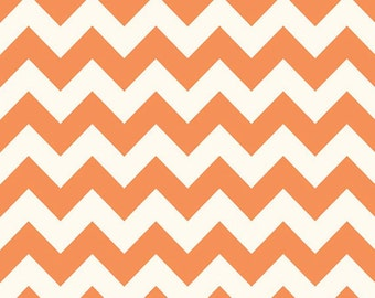 Sale fabric, End of the Year Sale, Fabric by the yard, Chevron fabric, Orange fabric, Orange Medium Chevron, Riley Blake, Choose your cut