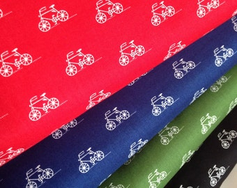 Lightweight Fabric, Cotton Fabric, Bicycle fabric, London Calling LAWN fabric by the Yard- Fabric Bundle of 4,  Free Shipping Available