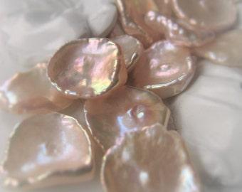Freshwater Pearl Bead Keshi Pearl Cornflake Pearl Keishi Pearl Natural Peach Pearl  Item No. 9882 8738
