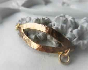 Gold Bar Bracelet Connector Hammered Bronze Connector Item No. 3046 2085