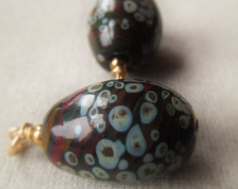 Glass Bead Pendant  14K Gold Filled Lampwork Bead Item No. 2940