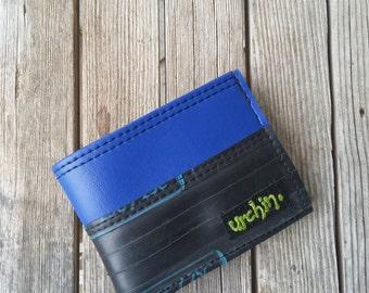 Bike Tube Wallet - Black Billfold Wallet - Mens Vegan Wallet - Inner Tube