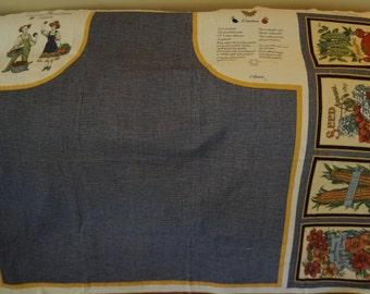 Concord's Gardening Apron Fabric Panel