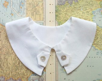 Peter Pan detachable collar with tabs, butterfly collar - available in ivory or white - Halloween costume accessory