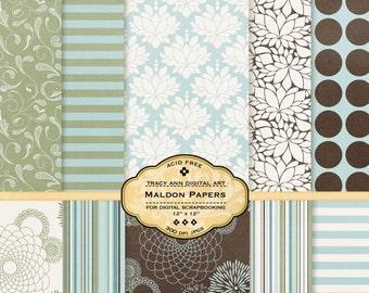 Maldon Digital Paper pack for invites, card making, digital scrapbooking