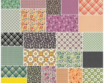 "Denyse Schmidt EASTHAM Precut 5"" Charm Pack Fabric Quilting Cotton Squares Free Spirit"