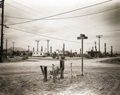 Desert Photography, Surreal Decor, California Photography, Abandoned Wall Art, Black and White Film Photography, El Centro California Print