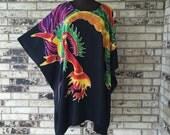 Plus Size Premium Dragon Design Tunic