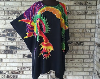 Plus Size Premium Dragon Design Tunic