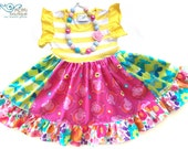 Peppa Pig Party dress Pink Momi boutique custom