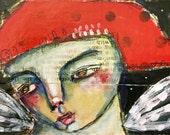 Fairy Portrait 2, Treasure Box, Jewelry Box, Trinket Box, Folk Art, Mystele