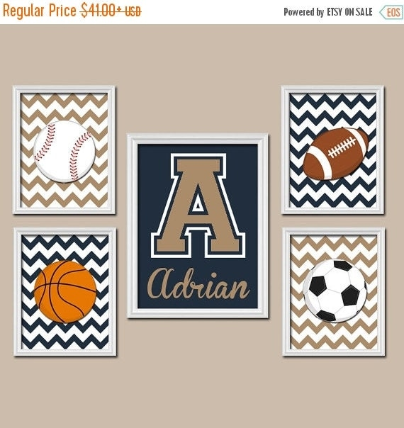 Basketball Sports Canvas Wall Art For Boys Bedroom Decor: SPORTS Wall Art Canvas Or Prints Boy Nursery Artwork By