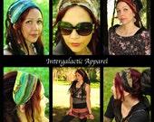 Dread wrap Headband, 6 Pack of Interstellar Weave Headbands, Dreadlocks, braids, Intergalactic Apparel, gypsy Clothes