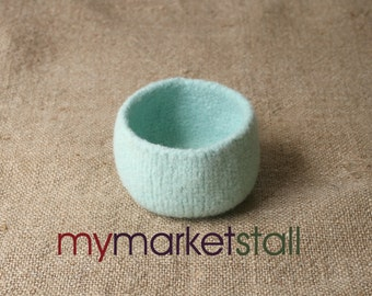 Mint Felted Bowl - Ready to Ship