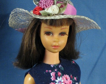 Francie Clothes - Blue Dress, Hat and Gloves Set