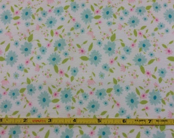 NEW Art Gallery Petite Potpourri Azur on cotton Lycra  knit fabric 1 yard.