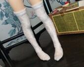 white soft stretchy stockings for msd bjd Unoa