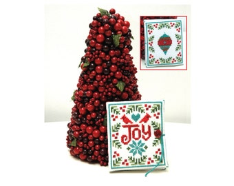 Joy Needlebook Christmas Cross Stitch Pattern Instant Download