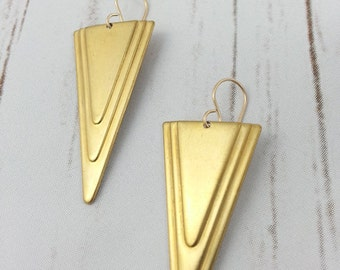At Deco You Up Earrings in Gold, Hypoallergenic