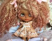Blythe Doll Rooted Scalp Teeswater Locks Art Doll One of a Kind