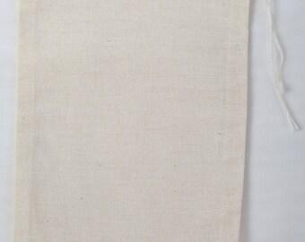 50 4x6 inch Cotton Muslin Drawstrings Bags