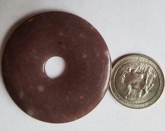 Large Brown Agate  Donut,  Destash Sale D-49