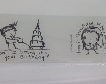 Cling Stamp Set 1 Featuring the Art of Sunny Carvalho-Unmounted