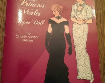 Diana Princess of Wales Paper Doll Book Uncut plus William & Kate