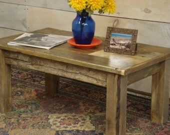 Ocean driftwood coffee table 48 glass top for Coffee table 48 x 36