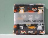 2 Sets of Cloth Napkins, Organic Fabric
