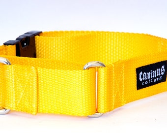 "1.5 Inch Width Nylon Dog Collar - Buckle, Martingale, Martingale w/ Buckle ( 1 1/2"" width dog collars Various Colors )"