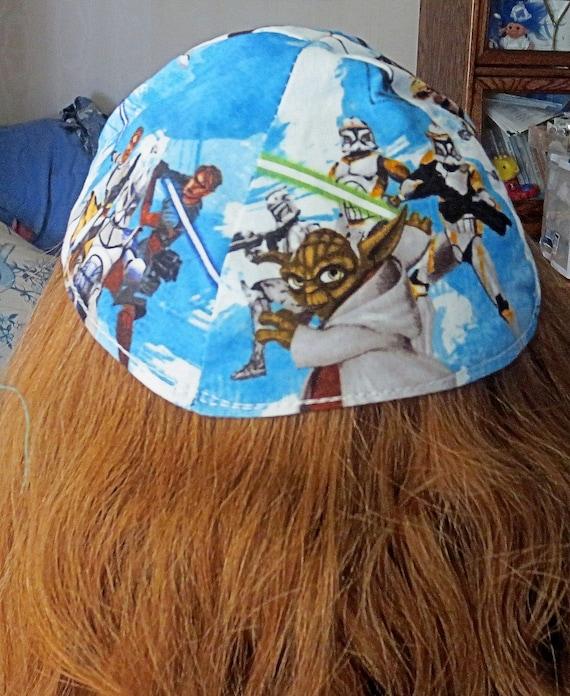 Star Wars Clone Wars kippah outer space movies yarmulke Yoda Sith great gift for under 20 dollars