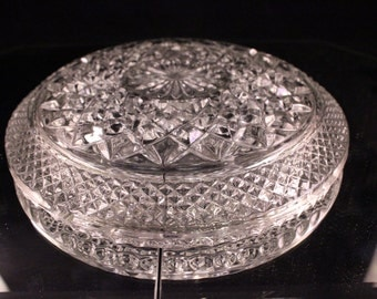 Vintage Large Clear Glass Ash Tray