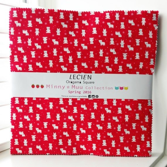 SALE 10 inch squares Layer Cake - MINNY MUU Collection Spring 2016 by Lecien Fabric origami square