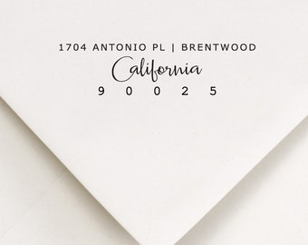 Return Address Stamp - Address Stamp - Custom Address Stamp - Self Inking Stamp - Housewarming Gift - Wedding Stamp - All States Available