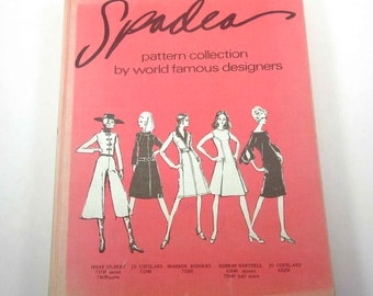 Vintage 1970s Spadea Pattern Collection by World Famous Designers Book