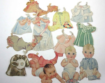 Adorable Baby Paper Dolls Book for Children