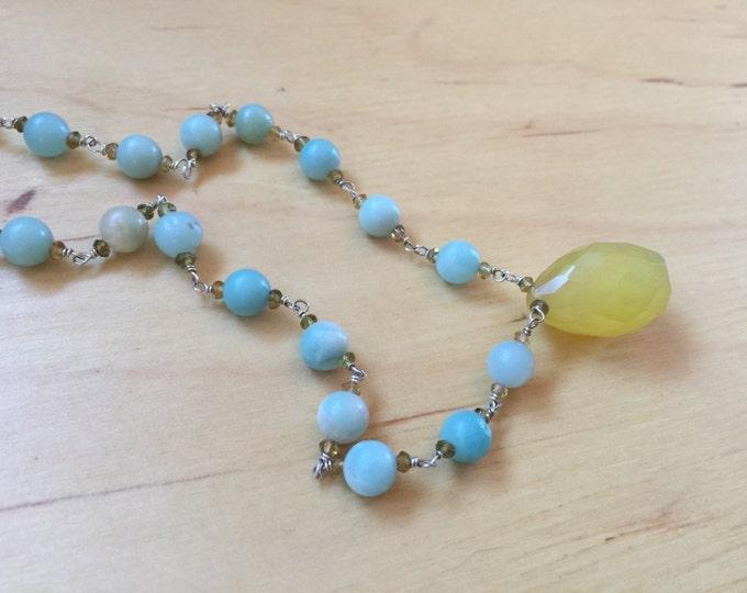 Insouciant Studios Awakening Necklace and Earring Set Amazonite