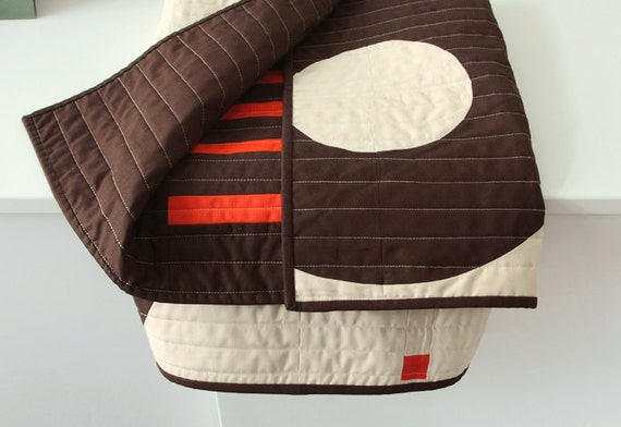 Modern graphic baby quilt - Rings