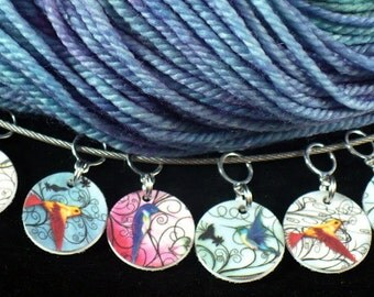 STITCHMARKERS for KNITTERS or CROCHETERS, Hummingbirds