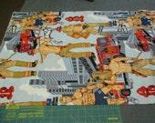 Sale Fabric Sale - 3/4 Yard - Alexander Henry Ready for Action Fireman Firemen - Quilting Cotton Destash