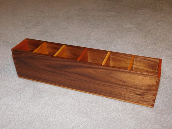 Desk organizer office desk caddy walnut cherry - Cherry desk organizer ...