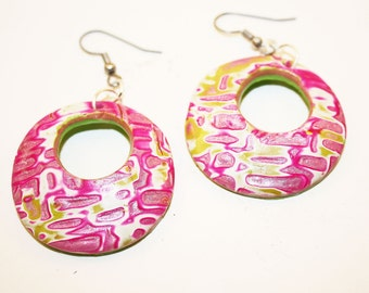 Pink  Summer Earrings