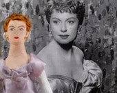 Deborah Kerr Doll Miniature Hollywood Actress Caricature Art by Uneek Doll Designs