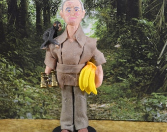 Jane Goodall Doll Miniature Art Character Scientific Art Chimps and Apes