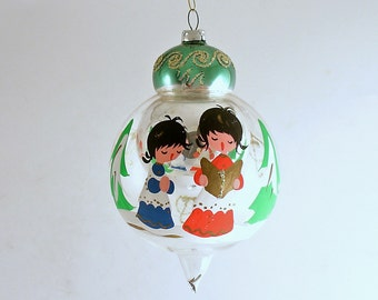 Vintage Glass Christmas Tree Ornament AS IS